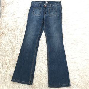 Cabi Jeans flare wide leg high waist 70s size 12